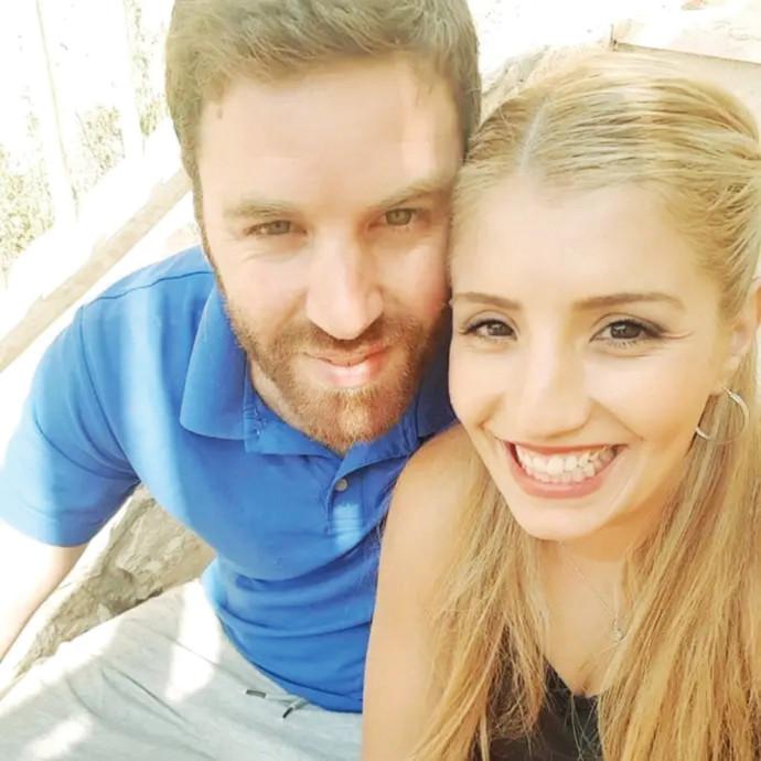 אמיר רז, החשוד ברצח אשתו, דיאנה, בתמונה משותפת
