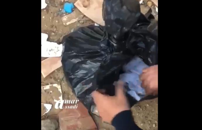 שקית הזבל בתוכה נמצאה התינוקת