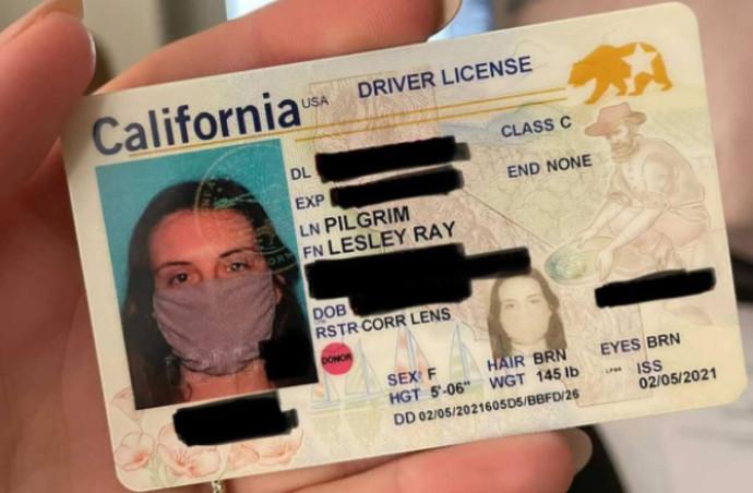 רישיון הנהיגה שצולם עם מסיכת קורונה