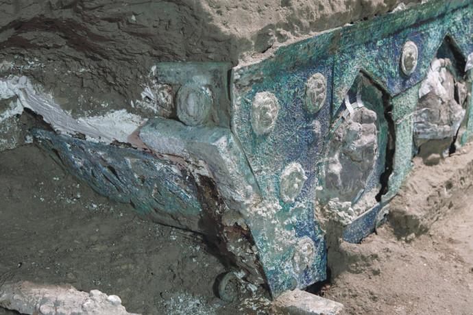 שרידי הכרכרה מפומפיי