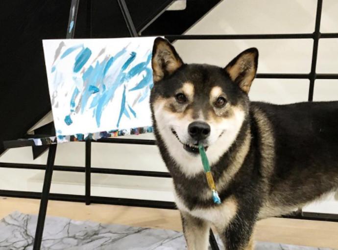 האנטר, הכלב המצייר
