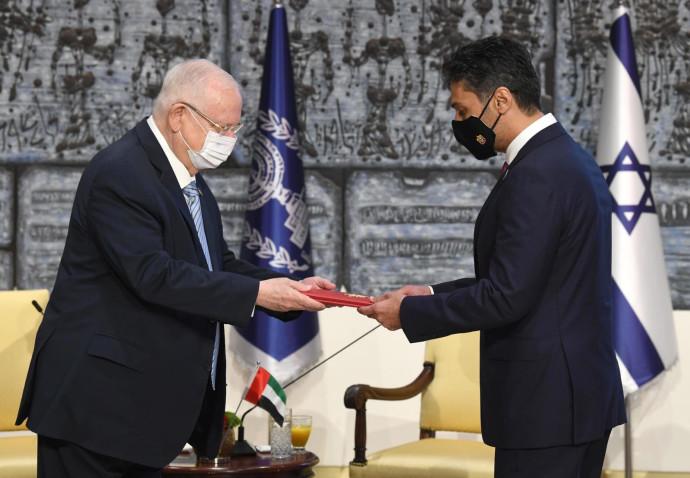 נשיא המדינה ושגריר איחוד האמירויות