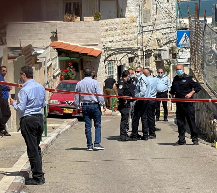 זירת הירי בחיפה