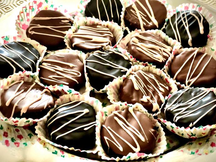 פרוסות גליל שוקולד