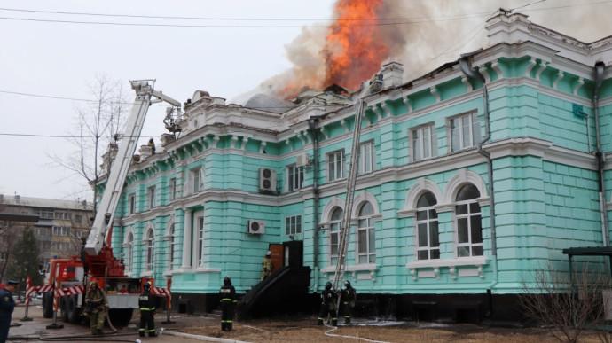 שריפה בבית החולים