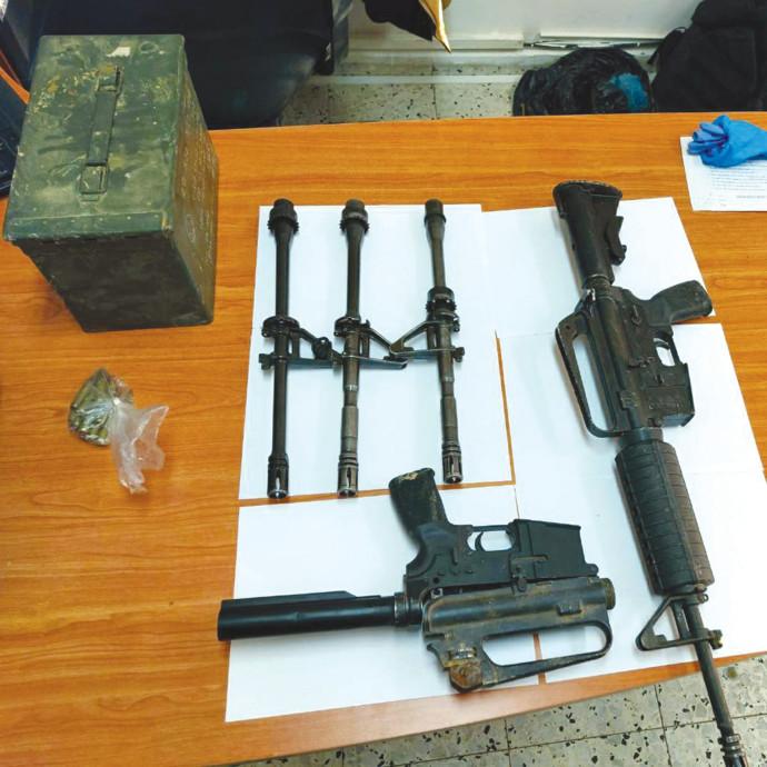 כלי נשק שנתפסו בחברה הערבית במהלך ינואר 2021
