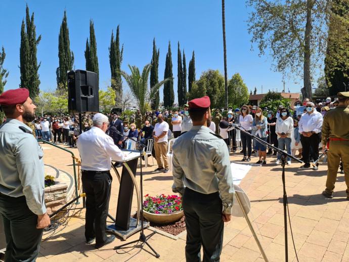 """ח""""כ אלון שוסטר בטקס יום הזיכרון"""