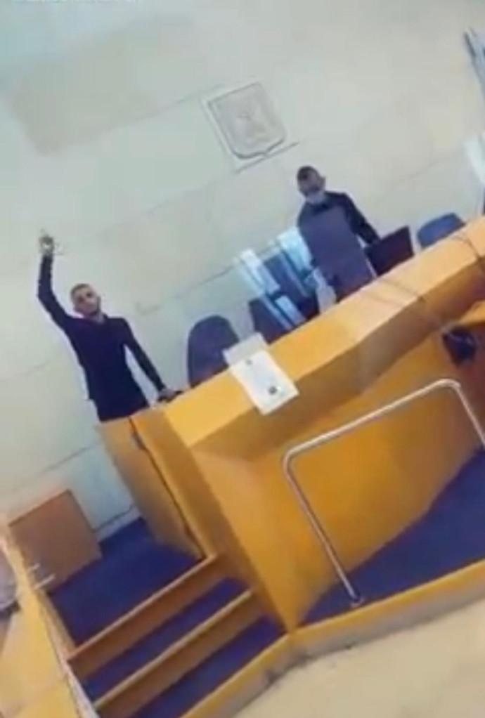 סרטון הטיקטוק שצולם בבית המשפט