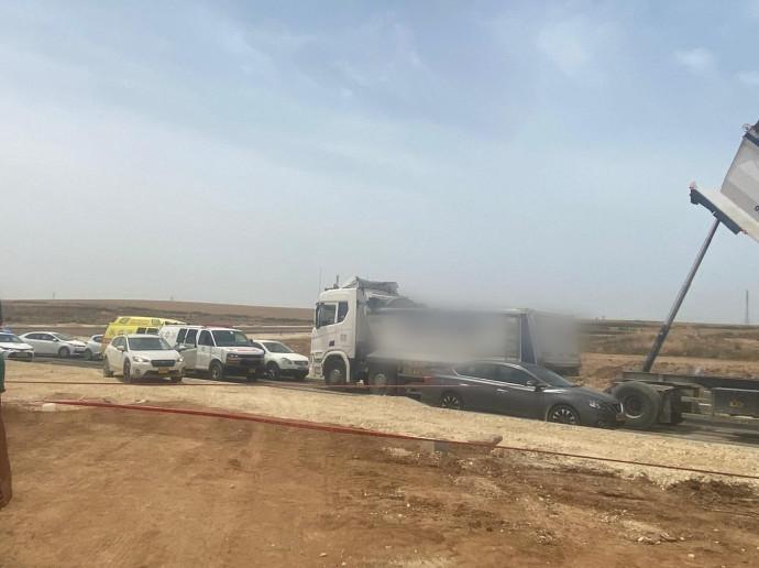 המשאית שפגעה בפועל