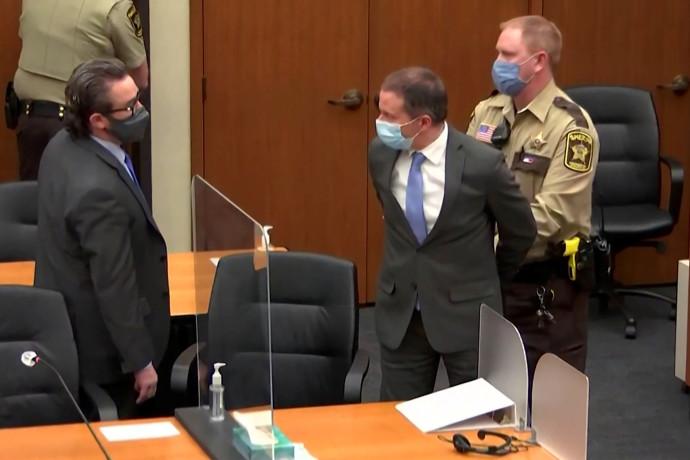 השוטר לשעבר דרק שאובין שהורשע ברצח ג'ורג' פלויד