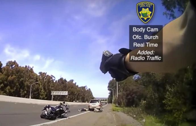 קרב היריות ממצלמת הגוף של השוטר