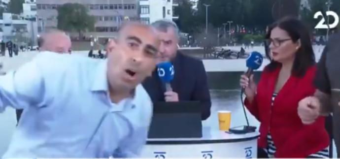 ברק כהן מתפרץ לשידור של ערוץ 20