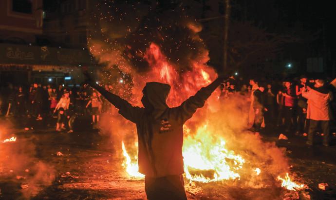 מחאה בעזה