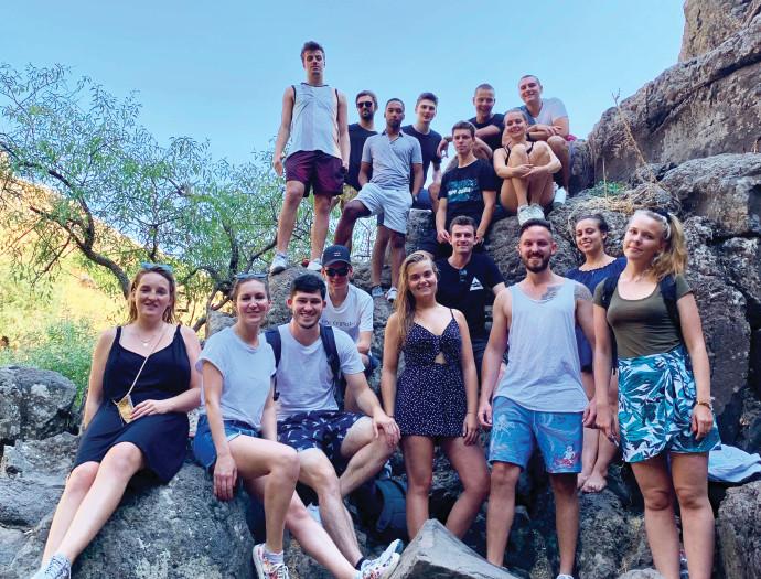 סטודנטים גרמנים שהגיעו לישראל