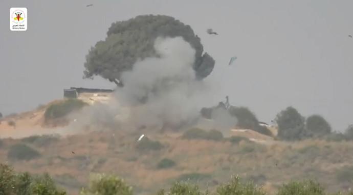 """תיעוד רגע הפגיעה של טיל הנ""""ט"""