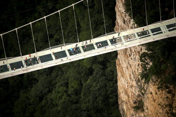 הגשר בהר פיאן שבסין לפני הקריסה