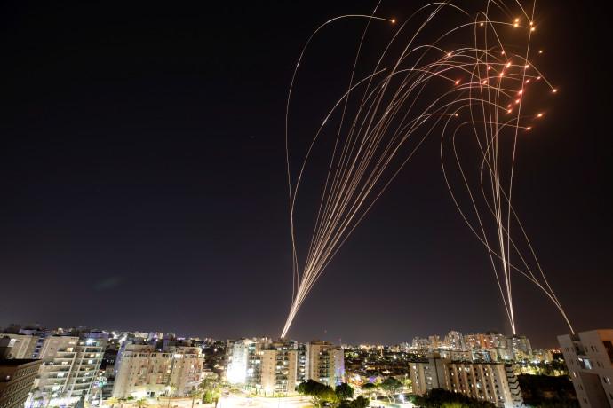רקטות ששוגרו מעזה לישראל