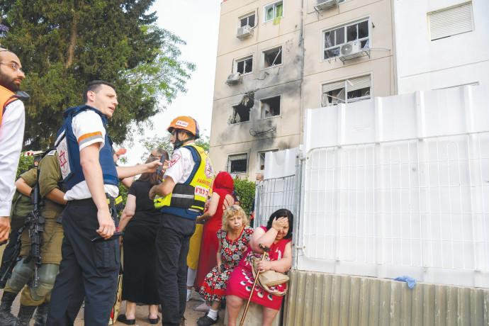 בניין שנפגע באשקלון