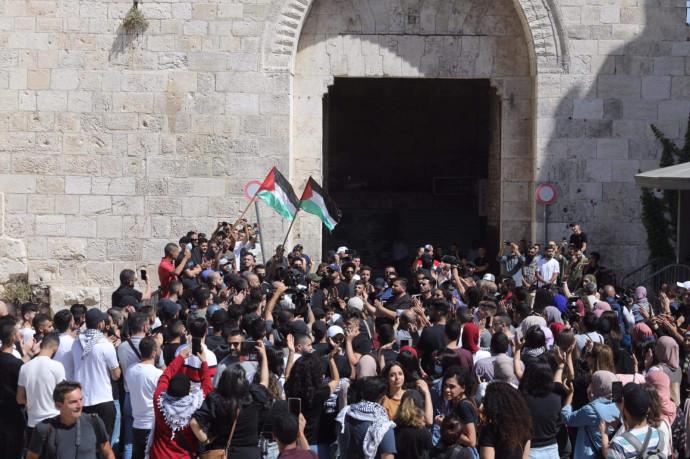 הפגנות בשער שכם במזרח ירושלים