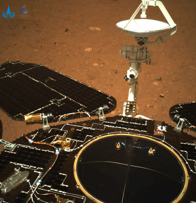 התמונה הראשונה ששיגרה הגשושית הסינית ממאדים
