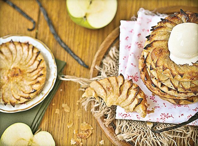 טארט בצק עלים ותפוחים