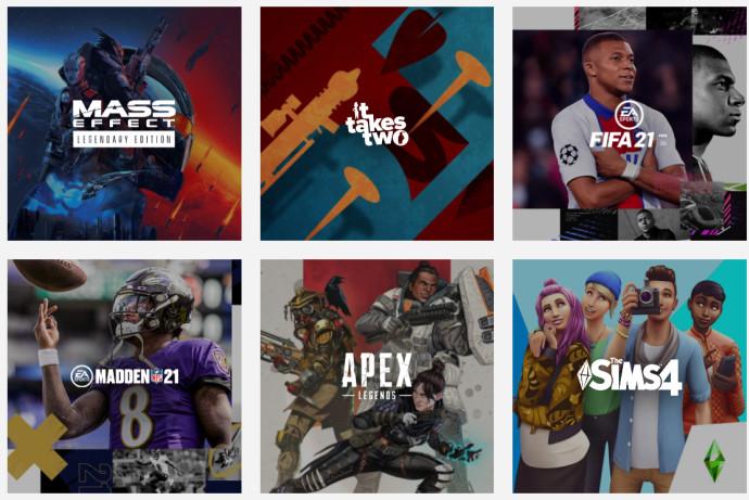 המשחקים של חברת חברת EA - Electronic Arts