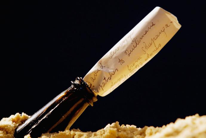 מכתב בבקבוק, אילוסטרציה
