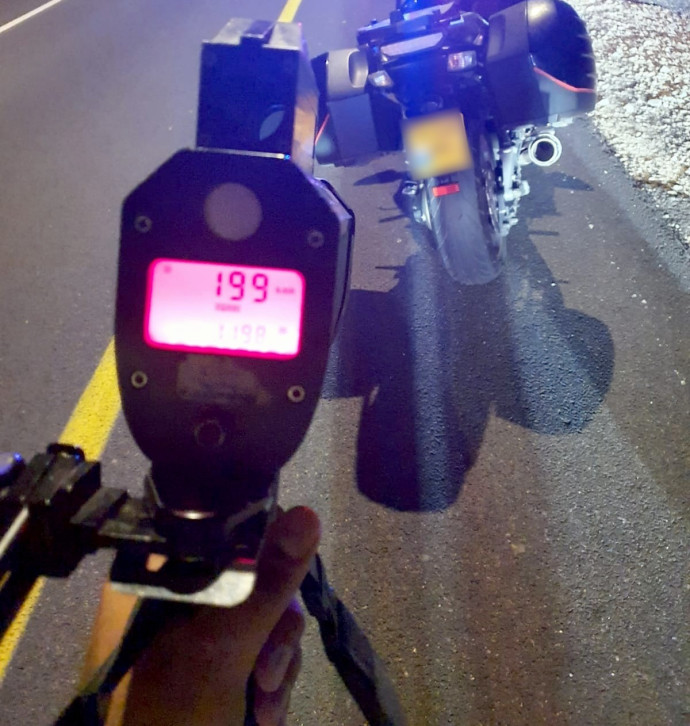 מהירות האופנוען כפי שנתפסה בידי מכשירי המשטרה