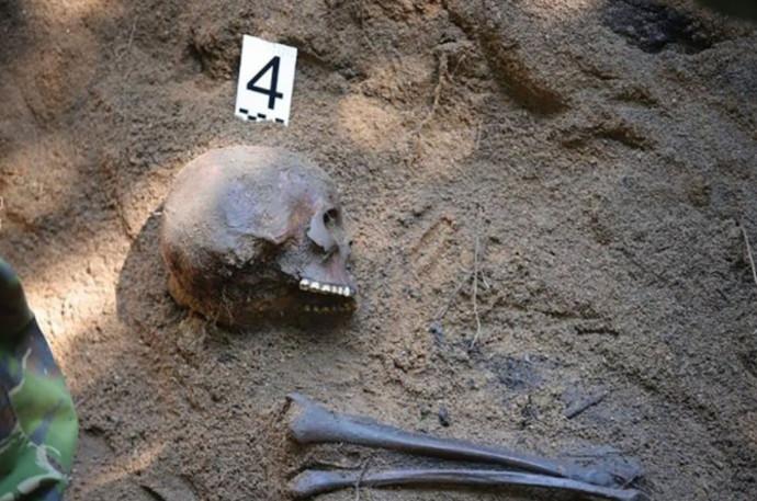 הממצאים שהתגלו בקבר האחים מימי השואה