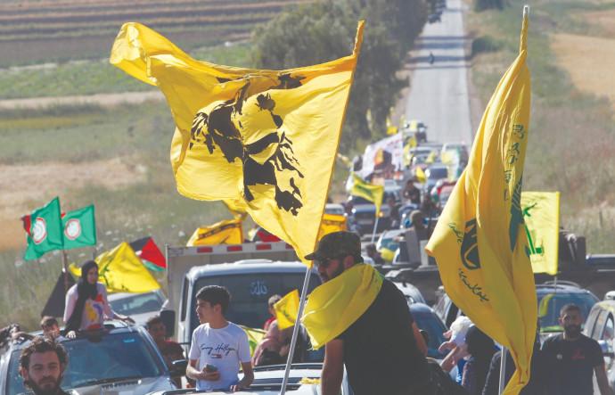שיירה של חיזבאללה בדרום לבנון במאי האחרון