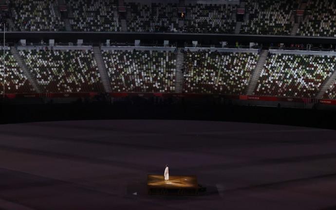 דקת דומיה לזכר חללי מינכן בטקס פתיחת אולימפיאדת טוקיו