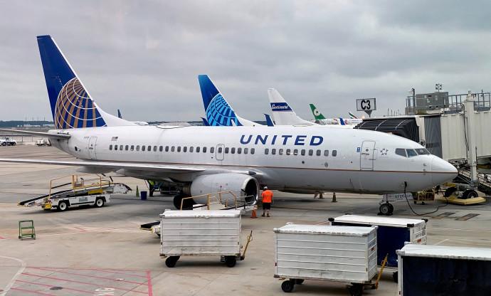 מטוס חברת יונייטד איירליינס