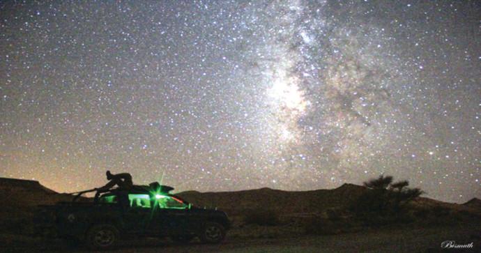 תל של כוכבים. חניון הלילה תל ערד
