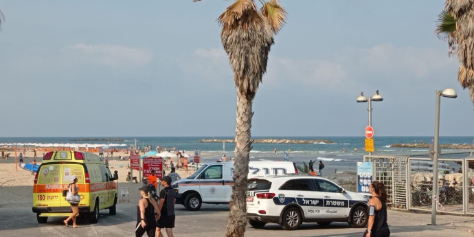 אמבולנס בחוף גורדון בתל אביב