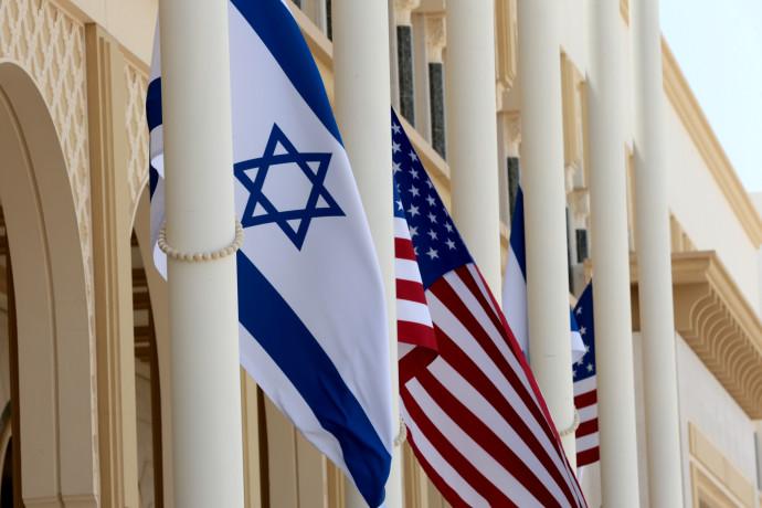"""דגל ארה""""ב ודגל ישראל"""