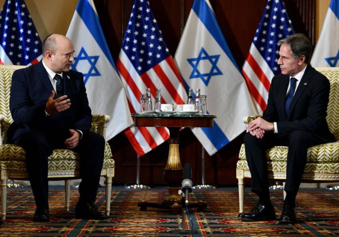 נפתלי בנט ומזכיר המדינה האמריקאי בלינקן