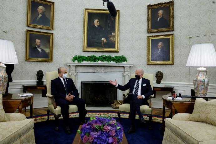 הנשיא ג'ו ביידן וראש הממשלה נפתלי בנט