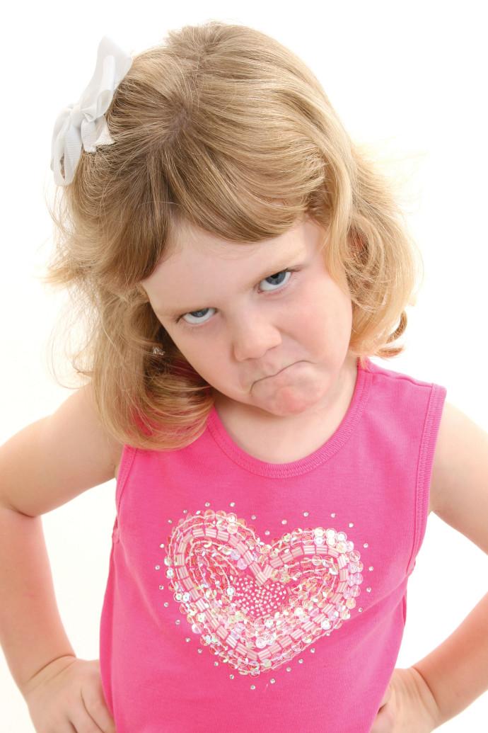ילדה מצוברחת