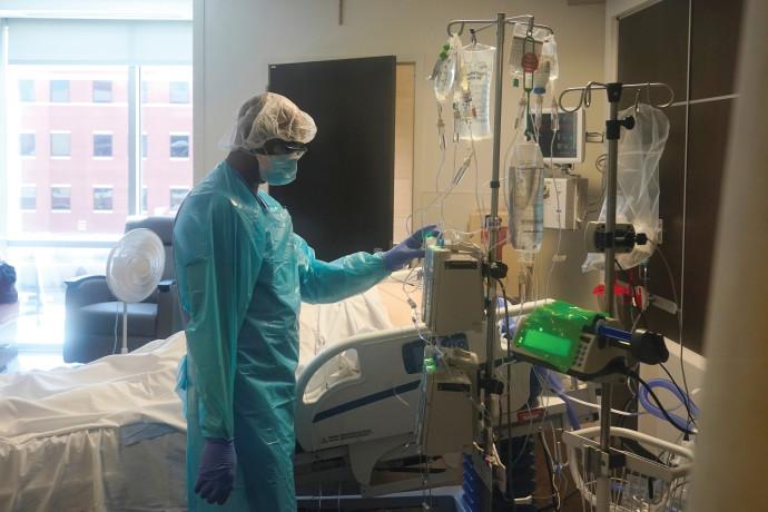 מחלקת קורונה בבית חולים בארצות הברית