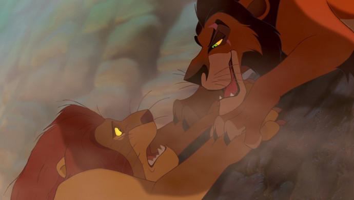 """סצנת הנפילה של מופסה בסרט """"מלך האריות"""""""