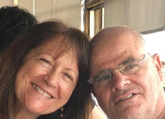 בני הזוג חיים ואסתי גירון, שנהרגו בהתרסקות המטוס הקל ביוון