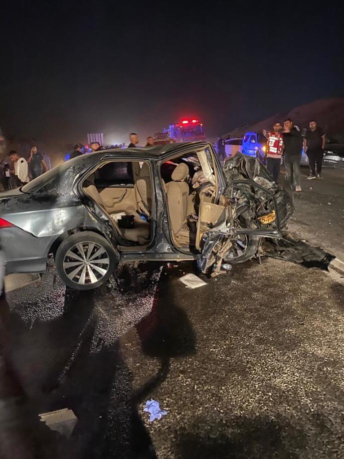 זירת התאונה בנגב