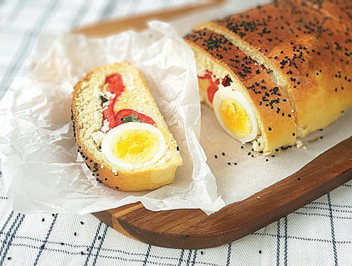 פלפל קלוי וביצה