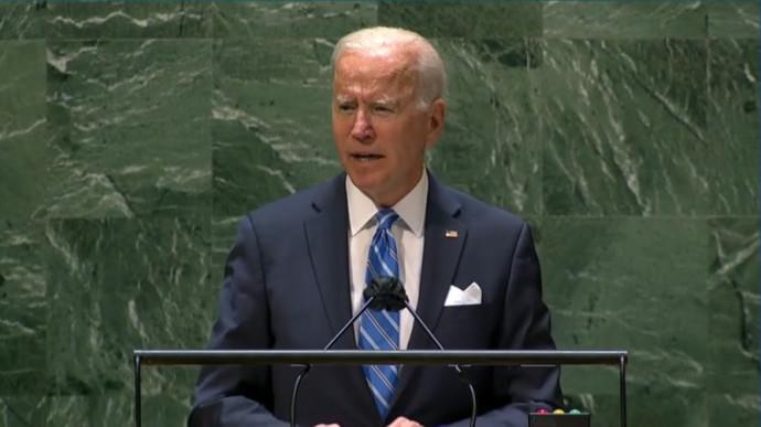 """ג'ו ביידן מעל בימת האו""""ם"""
