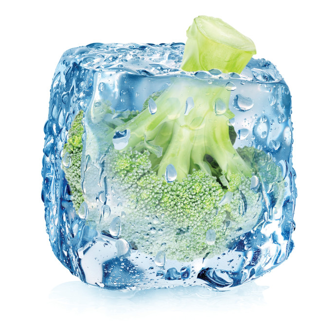 ברוקולי בקוביית קרח