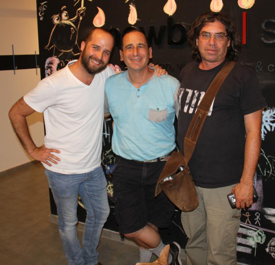 יורם הוניג, מייק רייס ויוני כהן (צילום: הרשות לפיתוח ירושלים)