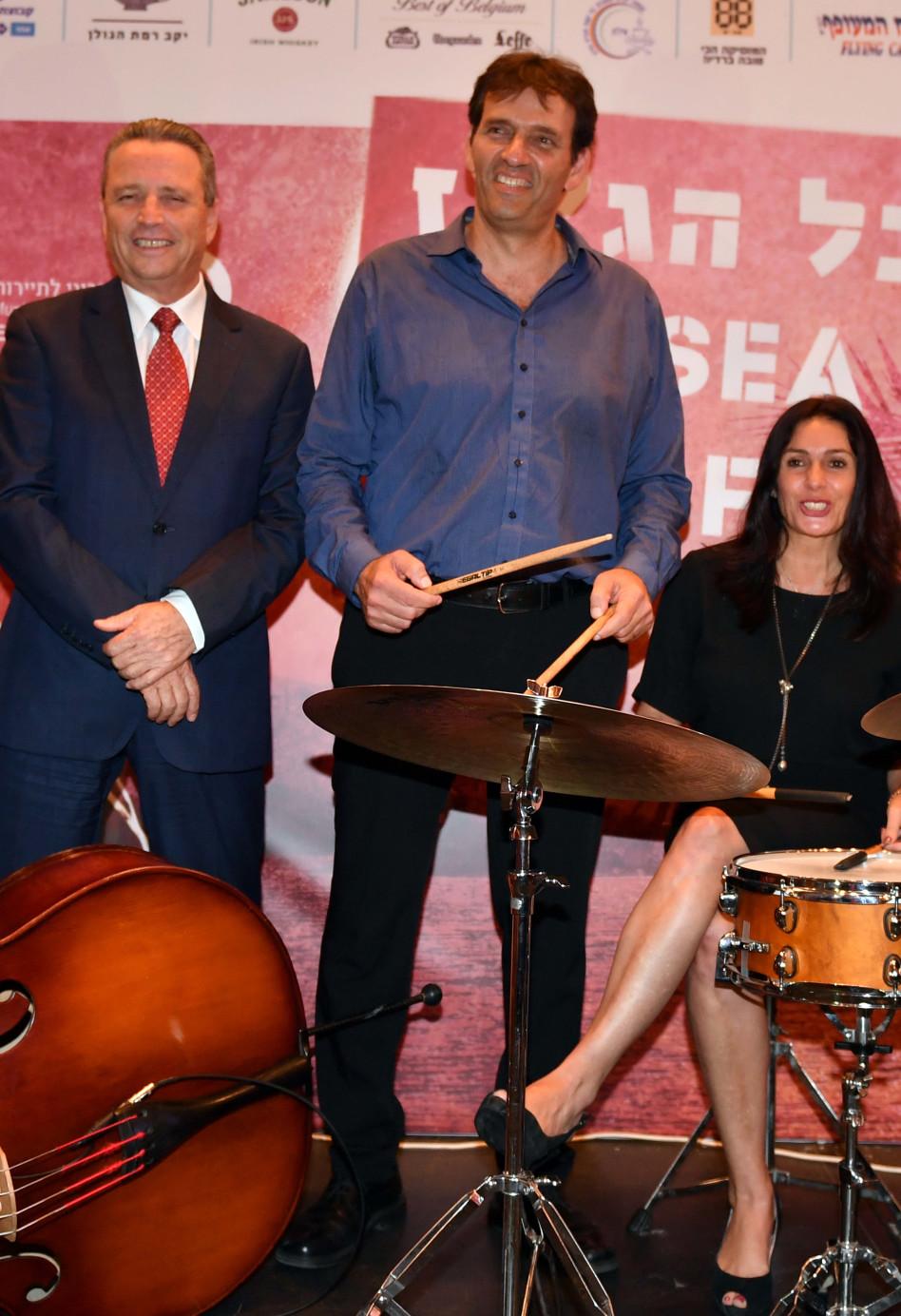 מירי רגב, אמיר הלוי וליאור מוצ'ניק (צילום: יוד צילומים אילת)