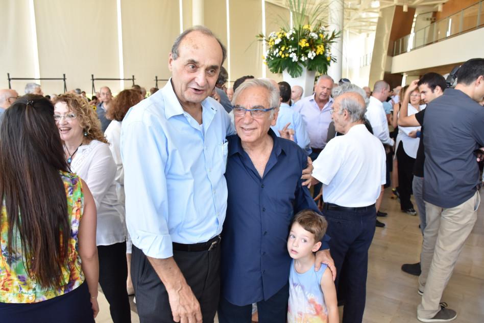 דן שינמן ואברהם (לולו) אסף (צילום: אביב חופי)