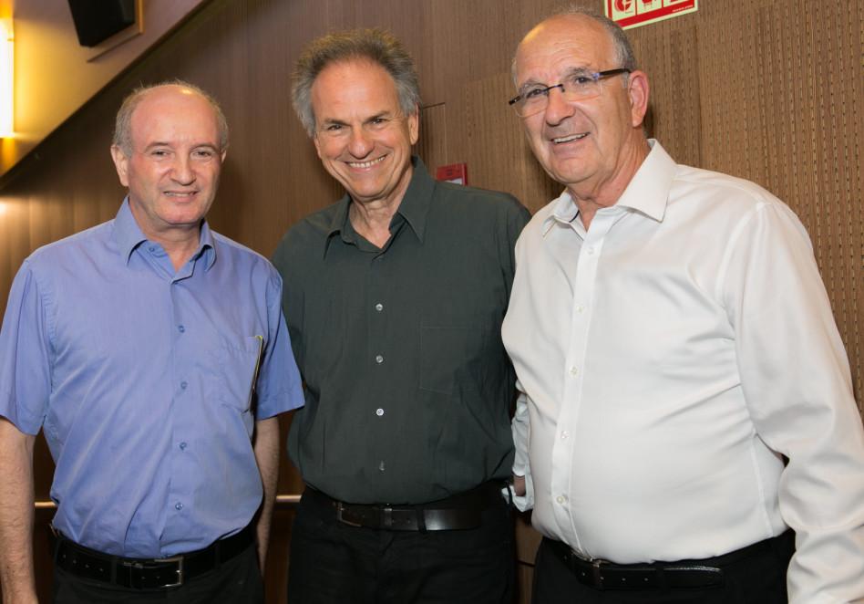 שמשון הראל, אבי נשר ודניאל זייפמן (צילום: יעל אילן)
