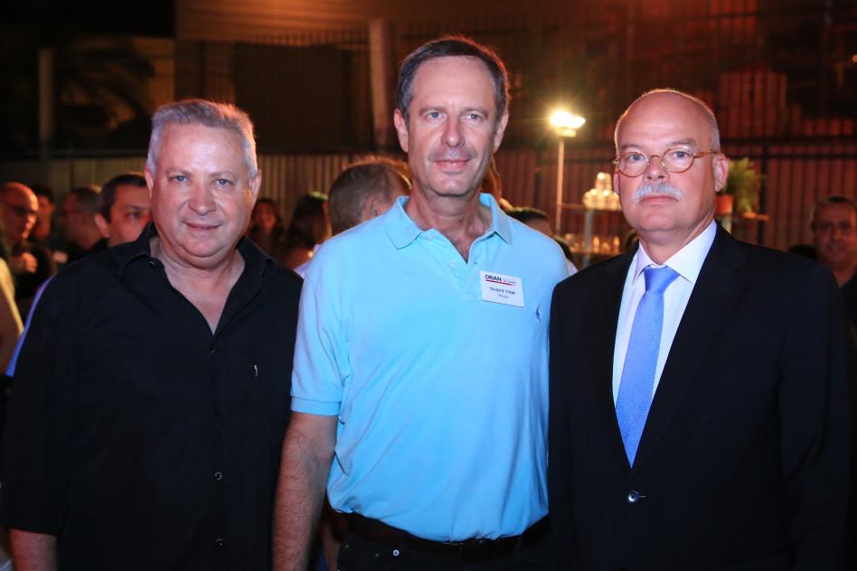 קלמנס פון גטצה, אופיר פינס ואילן גרינבוים (צילום: בן עמי קרן)